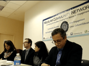 The Muslim Community Network hosted a panel discussion on President Donald Trump's Muslim travel ban on Saturday.