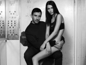 Riccardo Tisci and Bella Hadid for Nike.