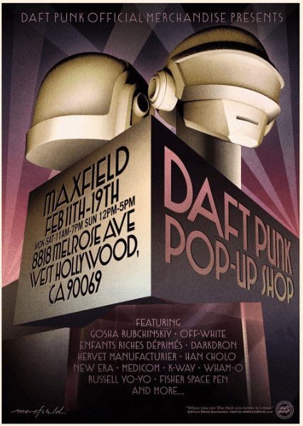 Daft Punk Hosts L.A. Pop-Up; Political Trends to Look for at NYFW