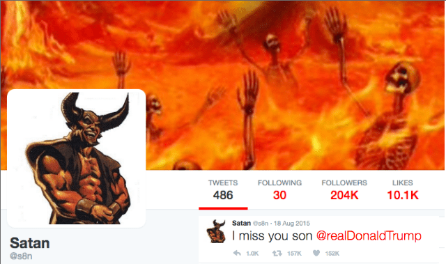 Donald Trump Made Twitter Satan Great Again