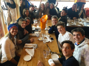 Malia Obama with her glamorous crew in Aspen.