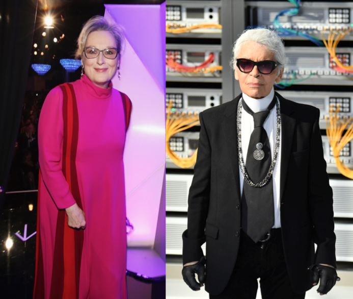 Meryl Streep and Karl Lagerfeld Are Feuding Over an Oscars Dress