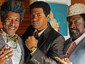 Danny John-Jules as Don King, Noel Clarke as Muhammad Ali and Lucian Msamati as Jabir Herbert Muhammad.