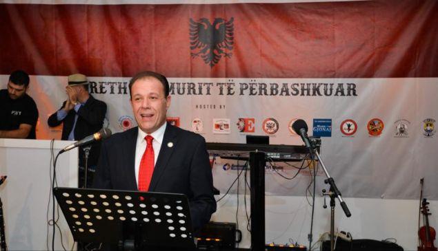 Assemblyman Mark Gjonaj at his 2016 Albanian Flag Day celebration.