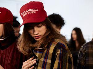 Public School's cool red hats.