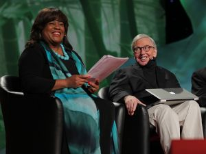 Chaz and Roger Ebert.