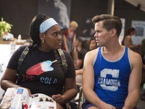 Latisha Di Venuto as Athena Dante and Andrew Rannells as Elijah Krantz.