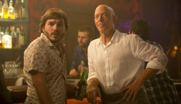 Emile Hirsch and J.K. Simmons in All Nighter.