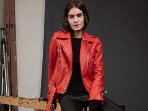 Nour Hammour Baptist Red Leather Jacket, $952, Nour-Hammour.com.