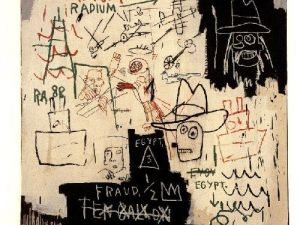 Future Sciences Vs. The Man by Jean-Michel Basquiat.