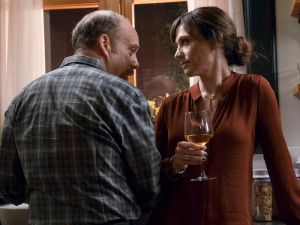 Maggie Siff as Wendy Rhoades and Paul Giamatti as Chuck Rhoades. (Season 2, Episode 06). - Photo: Jeff Neumann/SHOWTIME - Photo ID: BILLIONS_206_4163.R