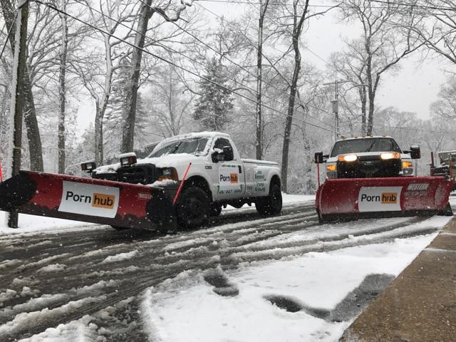PornHub Is Plowing Streets for Free During the Northeast Blizzard