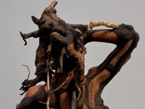 Detail on a Wangechi Mutu piece at Barbara Gladstone.