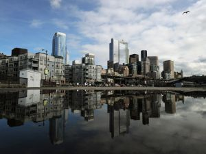 View of the skyline in the city of Seattle, Washington state on March 22, 2011. Seattle is the northernmost major city in the contiguous United States, and the largest city in the Pacific Northwest. The city is home to corporations such as Boeing, Starbucks and Microsoft. AFP PHOTO/Mark RALSTON