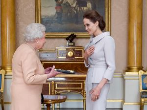Just a casual meeting with the Queen.