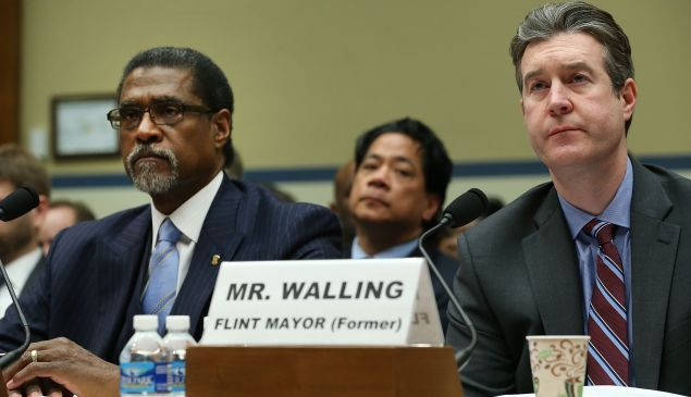 Dayne Walling (right) is the former mayor of Flint, MI.