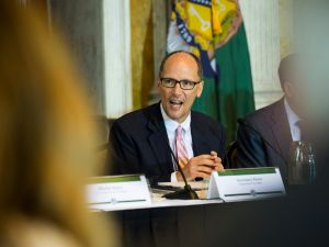 WASHINGTON, DC - JUNE 29: U.S. Department of Labor Secretary Thomas Perez delivers remarks during a public meeting of the Financial Literacy and Education Commission at the United States Treasury on June 29, 2016 in Washington, DC. The agenda focused on financial education and investment advice, as well as the intersection of financial education and legal aid.