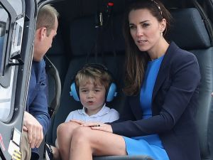 Prince George blocking out his haters.