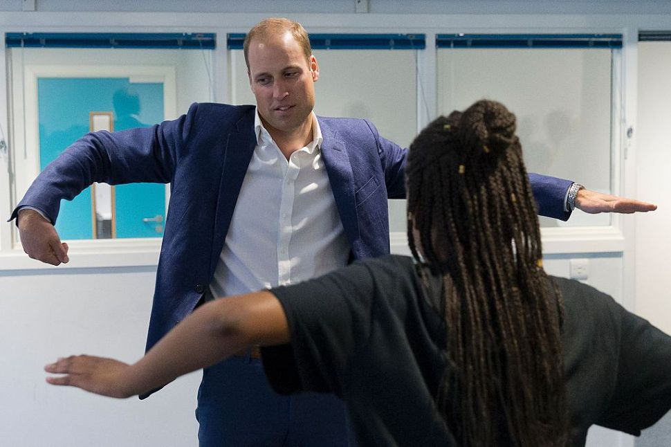 Prince William Raised the Roof Next to an Australian Model