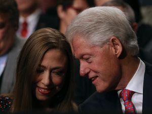 Former President Bill Clinton and Chelsea Clinton.