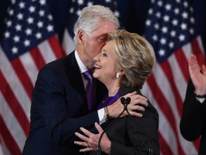 Hillary Clinton and former President Billl Clinton.