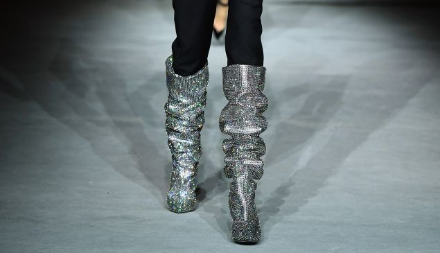 The $10K boots from Saint Laurent.