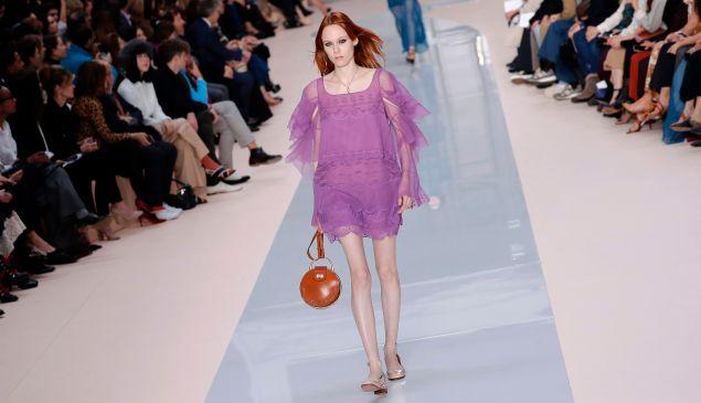 A handbag on the Chloé runway.