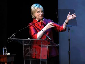 Former U.S. Secretary of State Hillary Clinton.