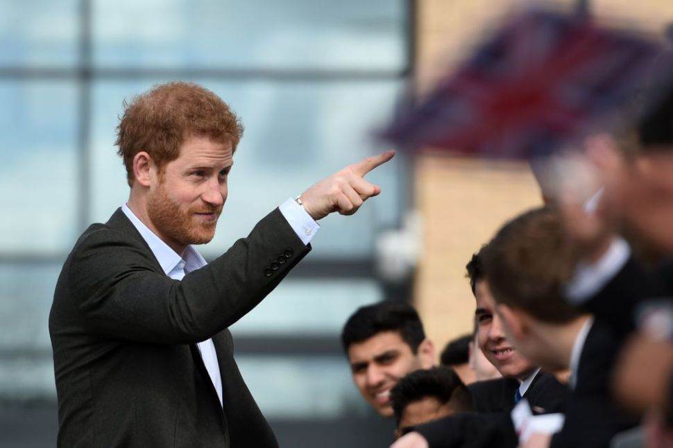 Prince Harry Played Sports in a Suit