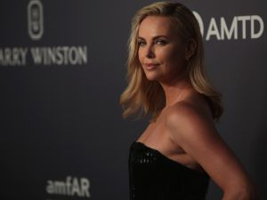 Charlize Theron at the amfAR Hong Kong Gala.