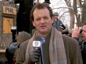 Bill Murray is not amused- and neither were the producers of the 'Groundhog Day' musical.