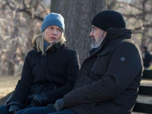 Claire Danes as Carrie Mathison and Mandy Patinkin as Saul Berenson.