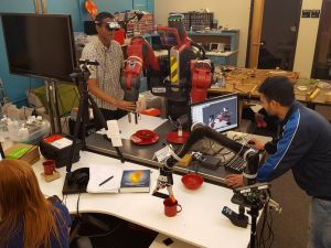 University students experiment with human-robot interaction and autonomous manipulation, two elements of manufacturing's future.