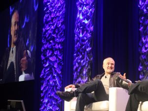 Nick Denton in conversation on stage at South by Southwest 2017.