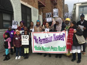 Muslim women marched and rallied in the Bronx to educate President Donald Trump and others about Muslim women and the religion.