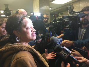 Portia Clarke, a longtime friend of Timothy Caughman, a black man who was killed by a white supremacist in Manhattan.
