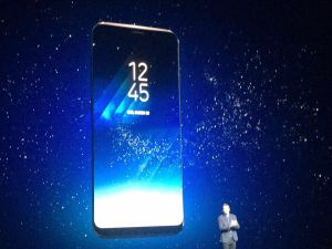 Samsung launches the new Galaxy S8 at Samsung Unpacked in NYC.