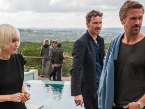 Rooney Mara, Michael Fassbender and Ryan Gosling in Terrence Malick's Song to Song.