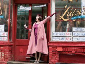 "Rachel Brosnahan as Miriam ""Midge"" Maisel in The Marvelous Mrs. Maisel."