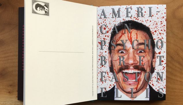 Franco inserted onto the cover of Bret Easton Ellis' American Pyscho.