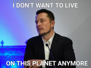 Elon Musk following the reveal of SpaceX's plans to get to Mars.