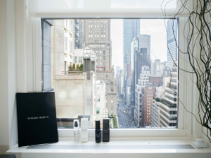 Soak up beautiful views from the 19th floor at Rossano Ferretti Hair Spa