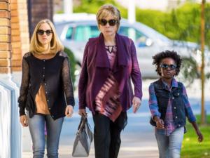 Amanda Seyfried as Anne, Shirley MacLaine as Harriet and AnnJewel Lee Dixon as Brenda.