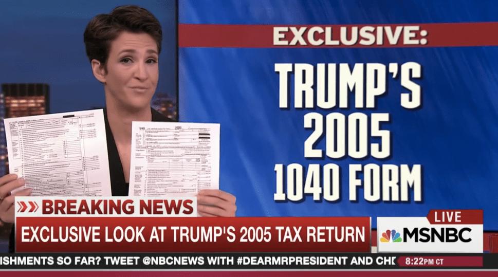 Rachel Maddow's Rambling Teaser Ends With Epic Fail on Trump's Taxes