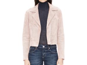 Pink suede jacket by VEDA