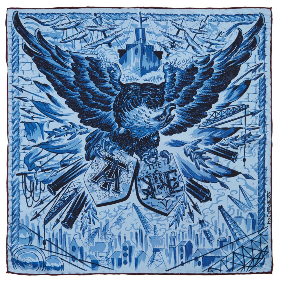 Turnbull and Asser Delivers Artful, Tattoo-Inspired Pocket Squares