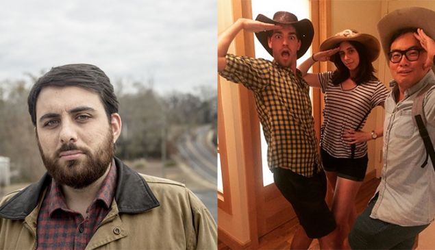 Left: Brian Reed, host of S-Town, Right: Matt Rogers, Nicole Silverberg and Bowen Yang of Las Culturistas.