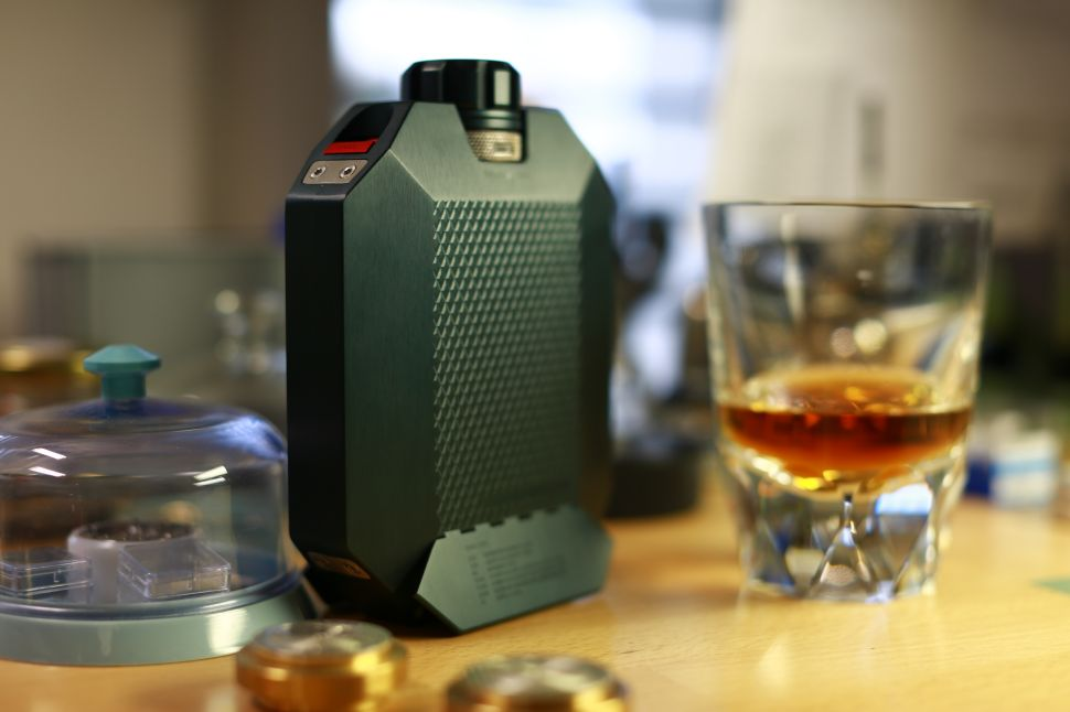A Watchmaker Created This $2,100 Whisky Flask