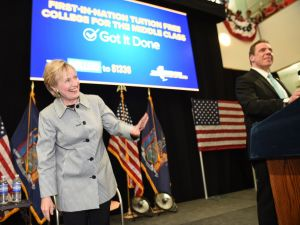 Governor Cuomo was joined by Secretary Hillary Clinton to Signs Legislation Enacting Excelsior Scholarship Program for Tuition-Free College