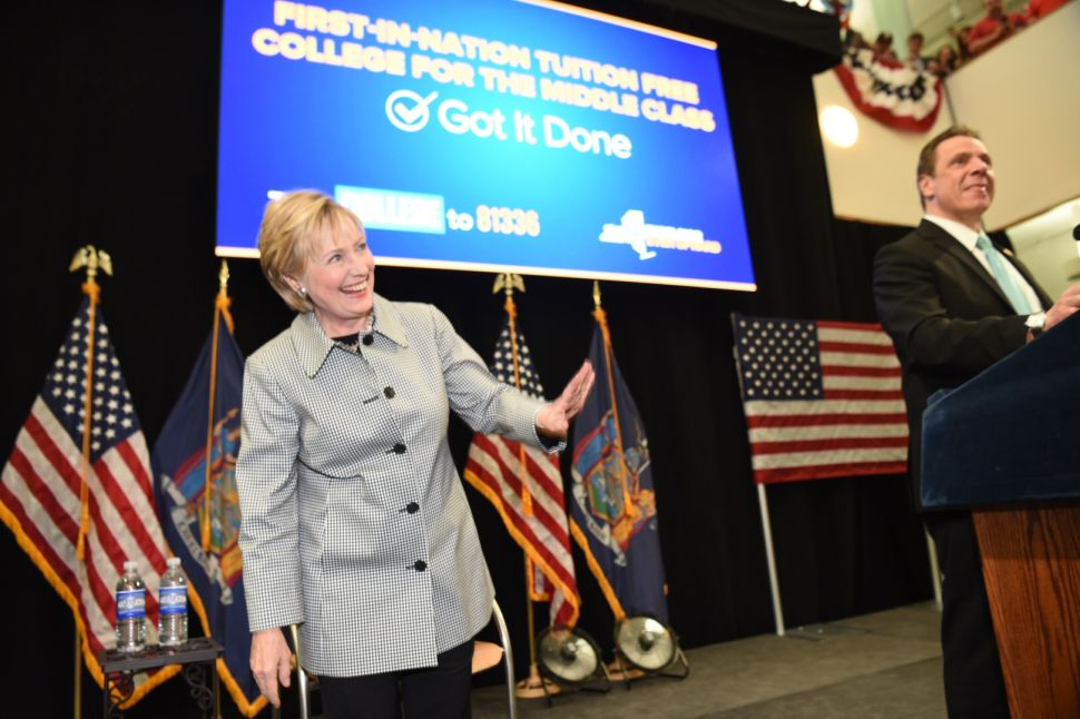Hillary Clinton Comes to Queens to Praise Cuomo's College Plan—and to Bash Trump and the GOP